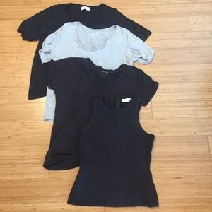 Lot of 4 Everlane Tees/Tanks, Size Small